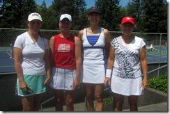 Mary Anderson, Sandy Garry, Bonnie Tetrick, Carolyn Nichols, 55 doubles