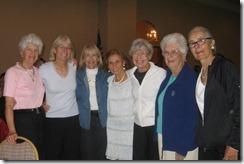 Joyce Jones, Nancy Ansboury, Angie Ray, Elizabeth Harrison, Nancy Stout, Janet French JanDurrett