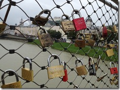 Not sure what the locks signify, but there were tons of them along this bridge's fence.