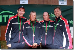 Trabert Cup, Eoin Collins, Mario Tabares, Jeff Tarango, Kelly Ward, with medals