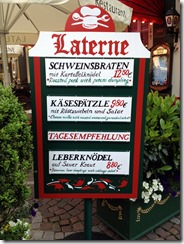 Today's menu; liver dumplings and sour kraut?
