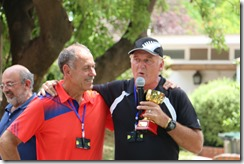 Paul thanking the club for the tournament