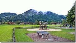 kindergarten and mountains