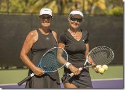 Nov 10, 2017; Miami, FL, USA; Beatriz Villaverde (ARG) and Marcela Voyame (ARG) WD55