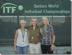 Nov 10, 2017; Miami, FL, USA; Klaartje Van Baarle (BEL), Rosalyn Nideffer (USA) and Jenny Klitch (USA)