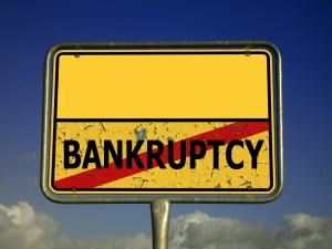 town sign, bankruptcy, insolvency