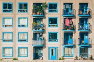 apartments, architecture, balconies