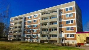 appartment building, block, building