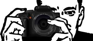 man, camera, photograph