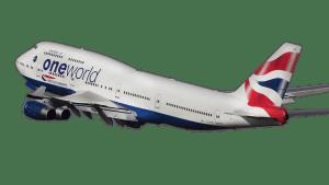 airline, airplane, b-747