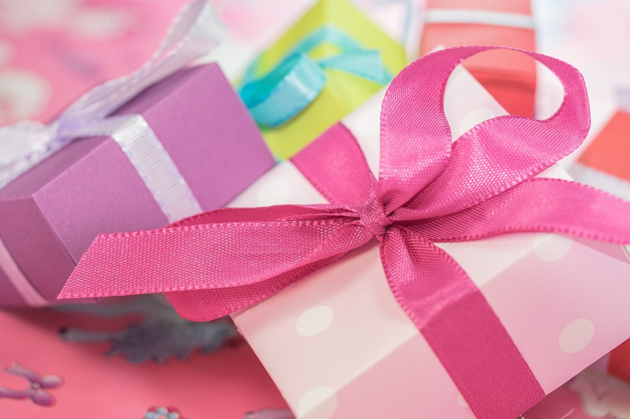 pink, gifts, boxes