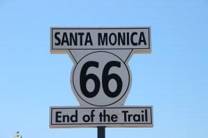 santa monica, 66, end of the trail