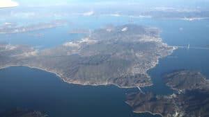 瀬戸内海に浮かぶ大三島