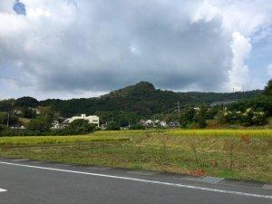 奥山城の遠景