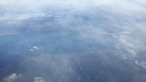 機内から撮影した琵琶湖