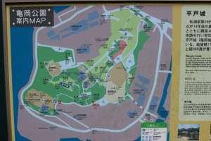 平戸城の案内図