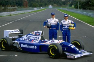 Senna FW14d With Senna and Hill