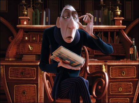 Anton Ego in Ratatouille Pixar