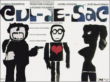 Plakat zu Polanskis 'Cul-de-sac' von 1966
