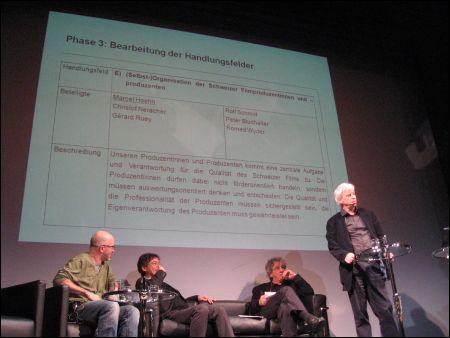 Thierry Spicher, Alberto Chollet, Adrian Marthaler, Marcel Hoehn (v.l.)
