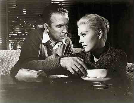 James Stewart und Kim Novak in Hitchcocks 'Vertigo' von 1958