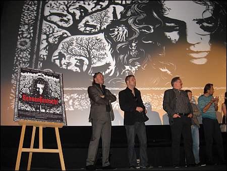 v.l. Nicholas Ofczarek, Michael Sauter, Andrea Zogg, Joel Basman, Carlos Leal an der Pressekonferenz in Zürich ©sennhauser