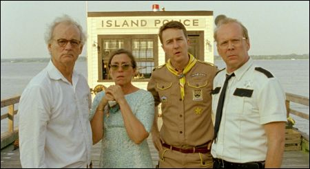 Bill Murray, Frances McDormand, Edward Norton und Bruce Willis