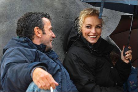 Christian Petzold mit Nina Hoss auf dem Set zu 'Barbara' © Look Now!