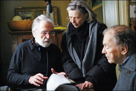 Michael Haneke dreht 'Amour' mit Emmanuelle Riva und Jean-Louis Trintignant ©filmcoopi