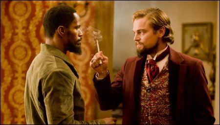 Bärtchen unter sich: Jamie Foxx und Leonardo di Caprio in 'Django Unchained' ©disney
