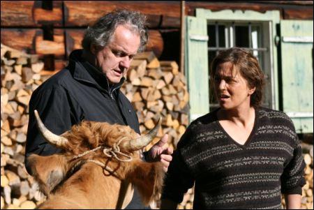 'Die Wand': Regisseur Julian Roman Pölsler und Martina Gedeck ©filmcoopi