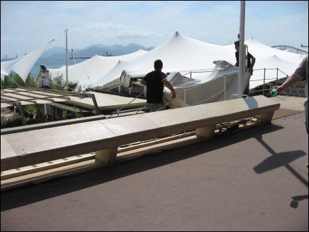 Cannes Beach Buildup
