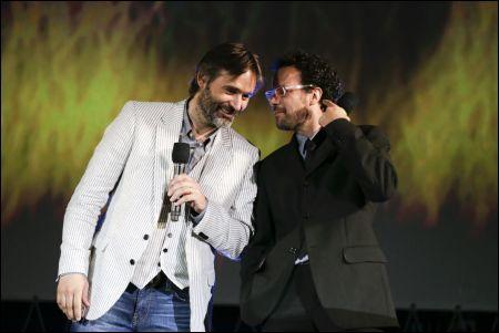 Baltasar Kormàkur mit Festivaldirektor Carlo Chatrian auf der Piazza Grande