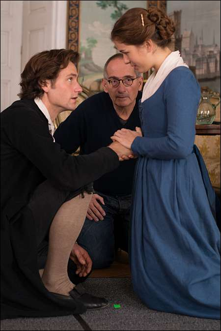 Beim Dreh: Florian Stetter, Dominik Graf, Henriette Confurius © Senator Film