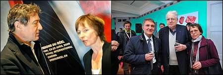 Ex-Festivalmacher Jean Perret und Gabriela Bussmann - aktuell: Luciano Brrisone; Exex: Moritz und Erika de Hadeln
