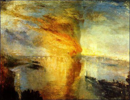 Turner: Der Brand des Parlamentsgebäudes
