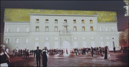 Der geplante Palazzo del Cinema in Locarno (Projektvisualisierung)