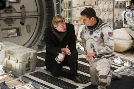 'Interstellar' Regisseur Christopher Nolan mit Matthew McConaughey © Warner Bros. Ent.