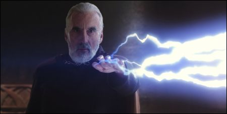 Christopher Lee als Count Dooku im 'Star Wars' Prequel