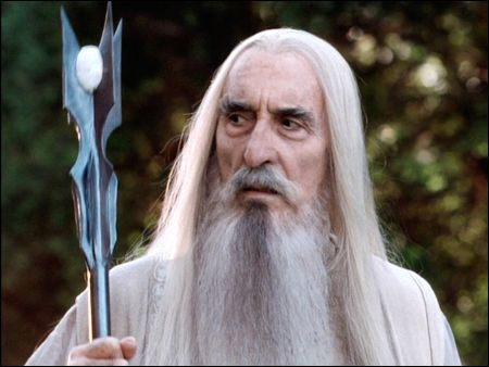 Christopher Lee als Saruman in der 'Lord of the Rings'-Trilogie