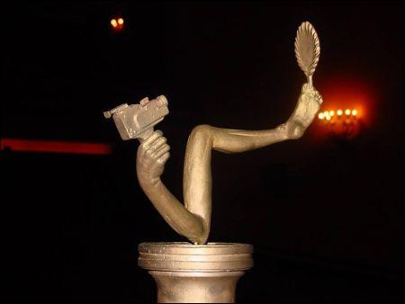 Der vom verstorbenen H.R. Giger gestaltete «Narcisse», der Hauptpreis des NIFFF