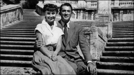 Audrey Hepburn und Gregory Peck in 'Roman Holiday (William Wyler, 1953)