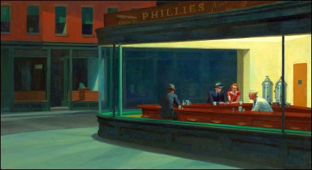 «Nighthawks» von Edward Hopper