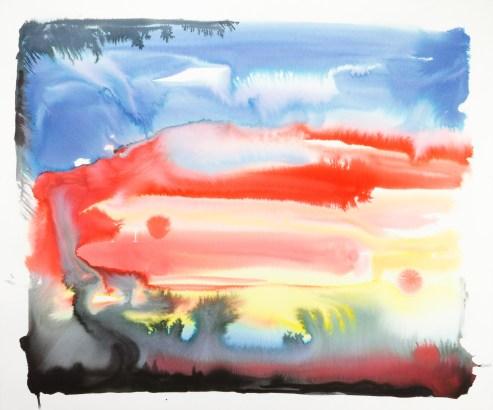 <em>Untitled</em>, 2017, ink on paper, 35 x 42 in.