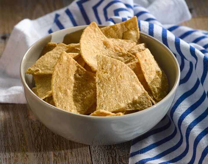 triangular corn tortillas chips