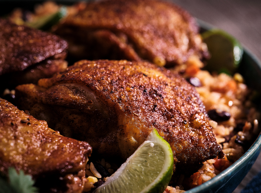 Senor Pepes chicken and rice