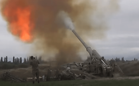 Россия официально призвала остановить огонь в Нагорном Карабахе