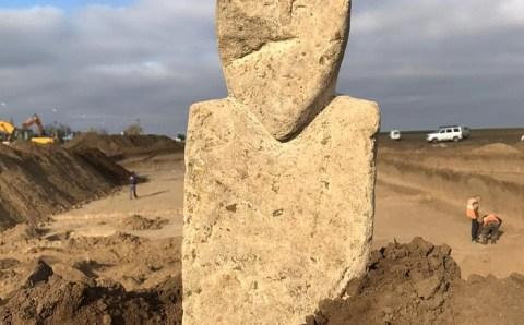 На Кубани нашли древнетюркское изваяние VII-VIII веков нашей эры
