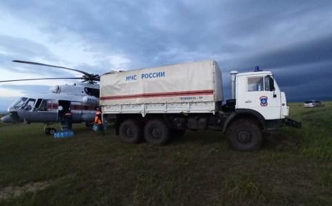 Спасательный вертолёт доставил гумпомощь в забайкальские села