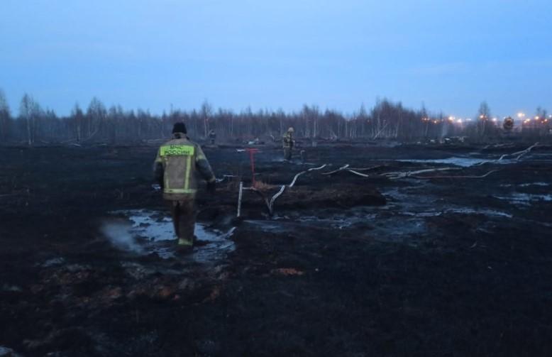 МЧС назвало вероятную причину возгорания торфяников в Екатеринбурге